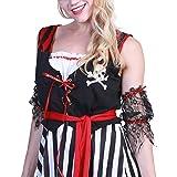 AWLLY Halloween Pirata Falda De Las Mujeres Disfraz De Buccaneer Disfraz De Traje De Mujer,S