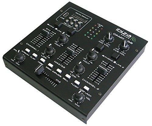 Ibiza DJM200USB - Mesa de mezclas (USB), color negro