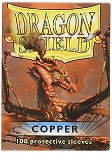 Arcane Tinmen 100 Deck Protector Mangas Magic Dragon Shield ESTÁNDAR DE Cobre Cobre Tarjeta Mangas Sobres