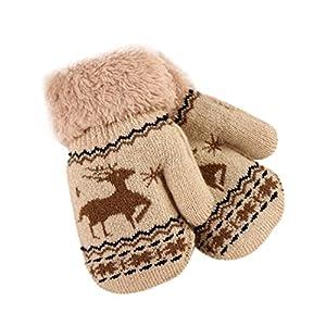 BBsmile Bebé Guantes Bebé Guantes Guantes acolchados ciervos lindos de la Navidad, guantes calientes del niño invierno 5