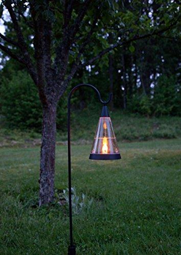 Kamaca LED Solar Windlicht Laterne PISA 3 Funktionen : Gartenstab Tischlaterne Hängelaterne Dämmerungssensor Solarleuchte mit LED Flamme Kerze flackernd