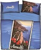 Bettwäsche Amalfi Doppelbett Bassetti (Sack 255x 200+ 45Klappe Umschlag = 245+ 1Bettlaken 175x 200+ 2Kissenbezug 50x 80) in