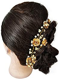 Tiara For Women/Hair Accessories For Girls/Juda Accessories For Women (Golden)