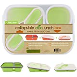 Smart Planet - Silicon Collapsible Meal Kit - Lunch Box - Green - BPA FREE