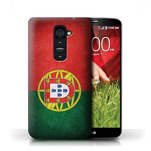 Kobalt® Imprimé Etui / Coque pour LG G2 / Portugal/portugais conception / Série Drapeau Portugal/portugais