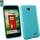Emartbuy® LG L65 Glänzend Gel Hülle Schutzhülle Case Cover blau
