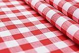 CENTRO - Karo rot weiß - 100 % Baumwolle - Vichykaro -