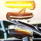 Ein Paar LED Dynamisch Blinker Spiegeln Leuchtanzeige für A3 S3 RS3 8V Transparent Shell