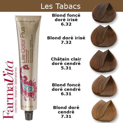 teinture-cheveux-farmavita-tons-tabac-blond-fonce-dore-cendre-tabac-631-6-t