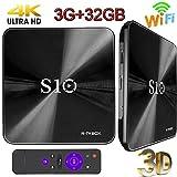 TV Box, 3 GB DDR4 + 32 GB Topsellingstore S10 Android 7.1 Smart 3d 4 K TV Box Dual WIFI 2.4 G/5G...
