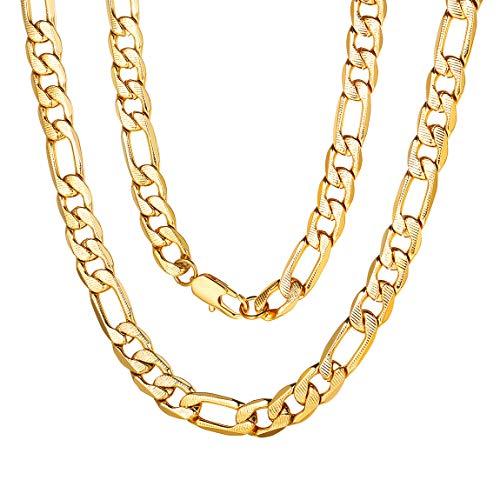 ChainsPro Herren Kette, Rapper Gold Goldene Große Gangster Kette - satter Goldlook - perfekt zum Protzen (24 Karat Kette Gold)