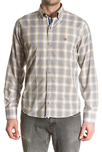 di-prego-kariertes-langarm-shirt-fur-herren-farbe-braun-hand-manschetten-blau-und-braun-mit-knopfen-