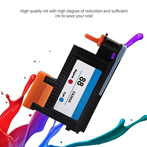 Topiky Hochwertiger Druckkopf, Professionelles Premium-Druckzubehör für langlebige tragbare Druckköpfe für HP 88 C9381A C9382A für K5300 K8600 L7380 Serie HP 88 Druckkopf(Magenta Cyan) - 88 Cyan Inkjet