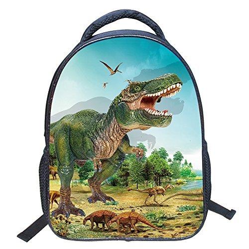 JIAN YA NA Baby Kleinkind Kinder Kind 3D Tiere Coole Dinosaurier Print Leinwand Rucksack Schul Umhängetasche Kinder Buch Tasche für Kindergarten