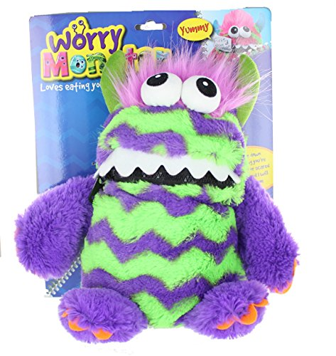 Worry Monster Plüsch Stofftier lila & green