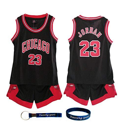 e3d345cc4 Daoseng Chico Niño NBA Michael Jordan # 23 Chicago Bulls Retro Pantalones  Cortos de Baloncesto Camisetas