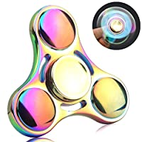 QcoQce Colorful hand spinner,Fidget Toy Zinc Alloy Hand Spinner,Killing Time