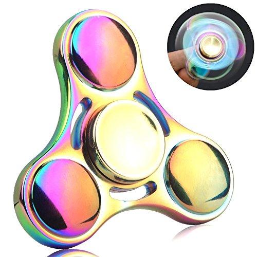 Preisvergleich Produktbild 4-6 Mins EDC Tri-fidget Hand Spinner, QcoQce Colorful Finger Spinner Toys(S1C)