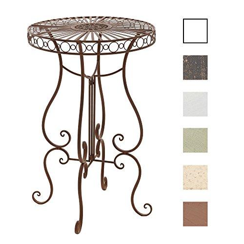 CLP Eisentisch SHIVA in nostalgischem Design I Robuster Stehtisch mit kunstvollen Verzierungen I In verschiedenen Farben erhältlich -