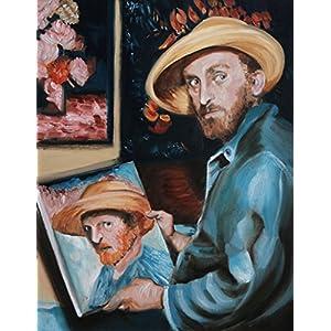 'Kirk Douglas as Van Gogh' von Valenti aus Irland, gerahmtes Ölgemälde, original - 63 x 53 cm. KOSTENLOSER VERSAND