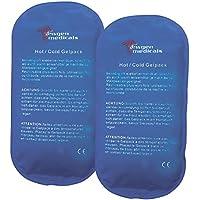 newgen medicals Cool Pack: 2er-Set XL-Kalt-Warm-Kompresse, wiederverwendbar, Mikrowellen-geeignet (Eisbeutel) preisvergleich bei billige-tabletten.eu
