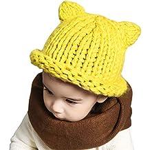 Cappello a Maglia Bambino Cappello Beanie Berretto da Bambino Cappello  Invernale Berretto di Lana Ragazzo Ragazza d57a0464b9d0