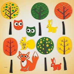 GelGems Trees & Creatures Large Bag Gel Clings
