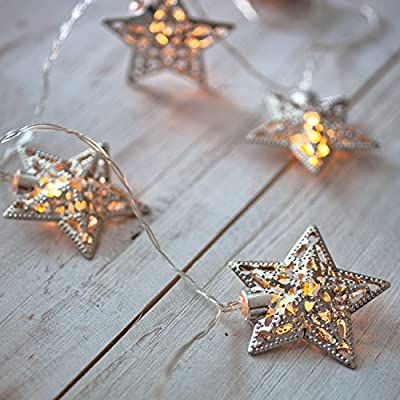 10 Star Battery Operated LED Fairy Lights by Lights4fun
