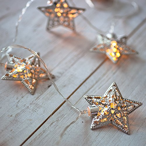 Lights4fun 10 Star Battery Operated LED Fairy Lights by