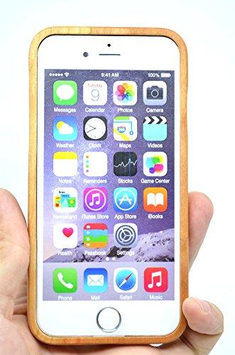RoseFlower® Coque iPhone 6S Plus 5.5'' en Bois Véritable - Éléphants bois cerises - Fabriqué à la main en Bois / Bambou Naturel Housse / Étui avec Gratuits Film de Protecteur Écran pour votre Smartpho Mandala fleur bois cerise