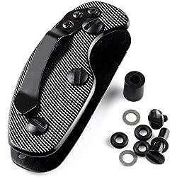 Llavero de aluminio, clip organizador, anilla para llaves, carpetas, cajas, bolsos, herramientas, color negro, SHOMLU1835, Negro , talla única