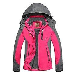 Diamond Candy Leichte Regenjacke Damen Wasserdicht Atmungsaktiv Winddichte Funktionsjacke mit abnehmbarer Kapuze XS-XL