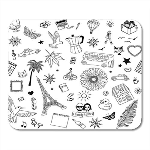 HOTNING Gaming Mauspads, Gaming Mouse Pad Random Like Birds Butterflies Flowers Trees Cats Frames 11.8