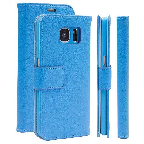 Samsung S7 EDGE Custodia   Hippo azzurro   iCues Maraba Borsa   più fintapelle e (Fibbia Combo)