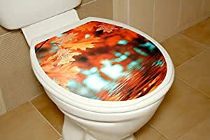 Toilet Seat Decal Sticker - Leaves