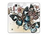 etuo Handyhülle für LG G4C - Hülle, Handy Flip Case - Schöne Schmetterlinge