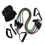 GLQ Resistenza Banda Set Upgrade Fitness Corda Pull comprende 5 Cinture imPilabili Sport con Maniglie, Cinghie Gamba, Borsa Sportiva per la Formazione di Resistenza per Uomini e Donne