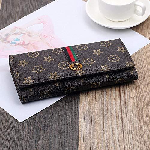 Relddd Gedruckt große klappbare Damen Geldbörse hundert-nehmen Sie die Änderung Clip Lady Handmade 0 Wallet