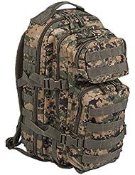 mochila Mil Tec US Assault de 20 L camuflaje Digital Woodland