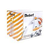 Defort elektrischer Dampfreiniger mit 3 Düsen und Messbecher, 800 W, 1 Stück, grau/orange, DSC-800 -