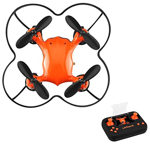 Virhuck Volar-360 RC Nano Pocket Drone Quadcopter, 2,4 GHz 4,5 CH 6 AXIS 360 Grad Flip Mini Drone Helicopter - Orange