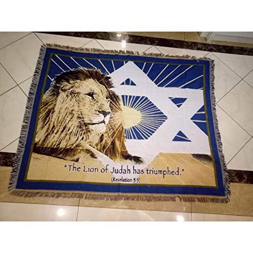 Wandteppich Teppich (SUNNYFOR Israel Gebet Decke Teppich Wandteppich Sofa Stricken werfen Handtuch Christian Geschenk Wohnzimmer Bett Decke Nahen Osten dekorative Decke)