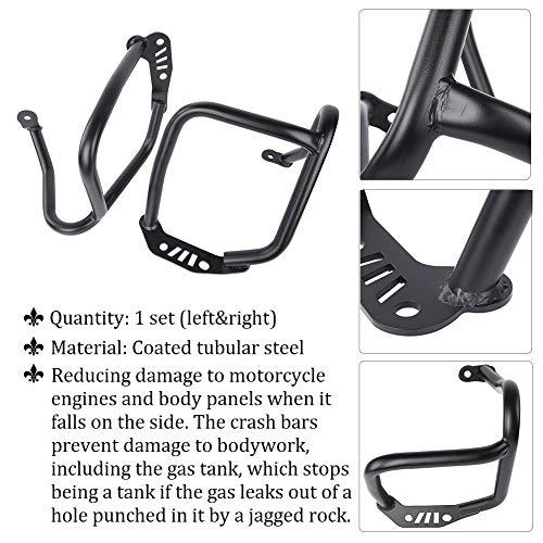 FATExpress Moto Black Steel Engine Guard Crash Bar Paraurti