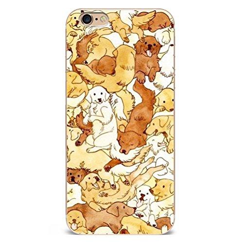 Iphone 7 Hülle Niedlich Katze Welpe Erdbeere Marmor Silikon TPU Schutzhülle Ultradünnen Case Schutz Hülle für iPhone 7 YM96