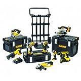 18 V 4,0 DeWalt Akku-kombo confezione 4,04,0 Ah BL 8 teilig con 4 batterie, DCK892M4-QW