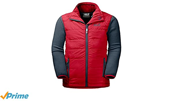 Jack Wolfskin Glen Dale Kids 3in1 Kombi aus Fleecejacke und Steppweste ruby red