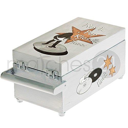 matches21 CD-Koffer 30x16x14 cm Holz Bausatz f. Kinder Werkset Bastelset ab 10 Jahren