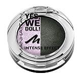 Manhattan Yes, we doll! Intense Effect Duo Eyeshadow Nr. 02 Prima Ballerina Farbe: Flieder / Dunkelgrün Inhalt: 5g gebackener Lidschatten für Smokey Eyes. Eyeshadow für strahlen schöne Augen.