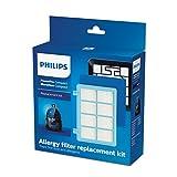 Philips FC8010/01 Original Ersatzfilterset (für PowerPro Compact Bodenstaubsauger) blau/weiß