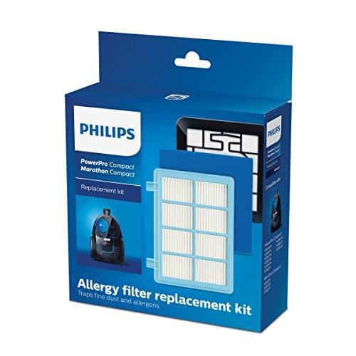 Philips FC8010/01 Original Ersatzfilterset (für PowerPro Compact Bodenstaubsauger) - Staubsauger Philip